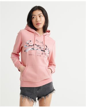 ΦΟΥΤΕΡ SUPERDRY VL PHOTO ROSE ENTRY HOOD ΓΥΝΑΙΚΕΙΟ